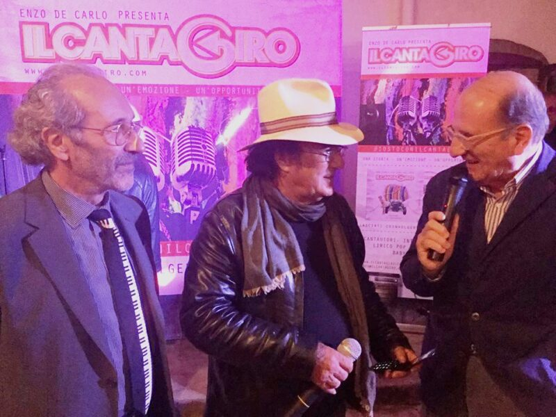 Enzo De Carlo, Patron del Cantagiro, con Al Bano ed Elvino Echeoni, Direttore Generale del Cantagiro
